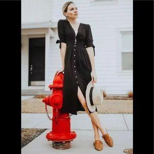 NWT Free People Love Of My Life Midi Dress S Black